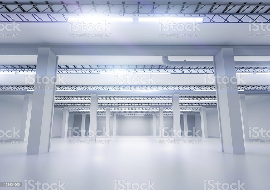Clean Industrial Warehouse royalty-free stock photo