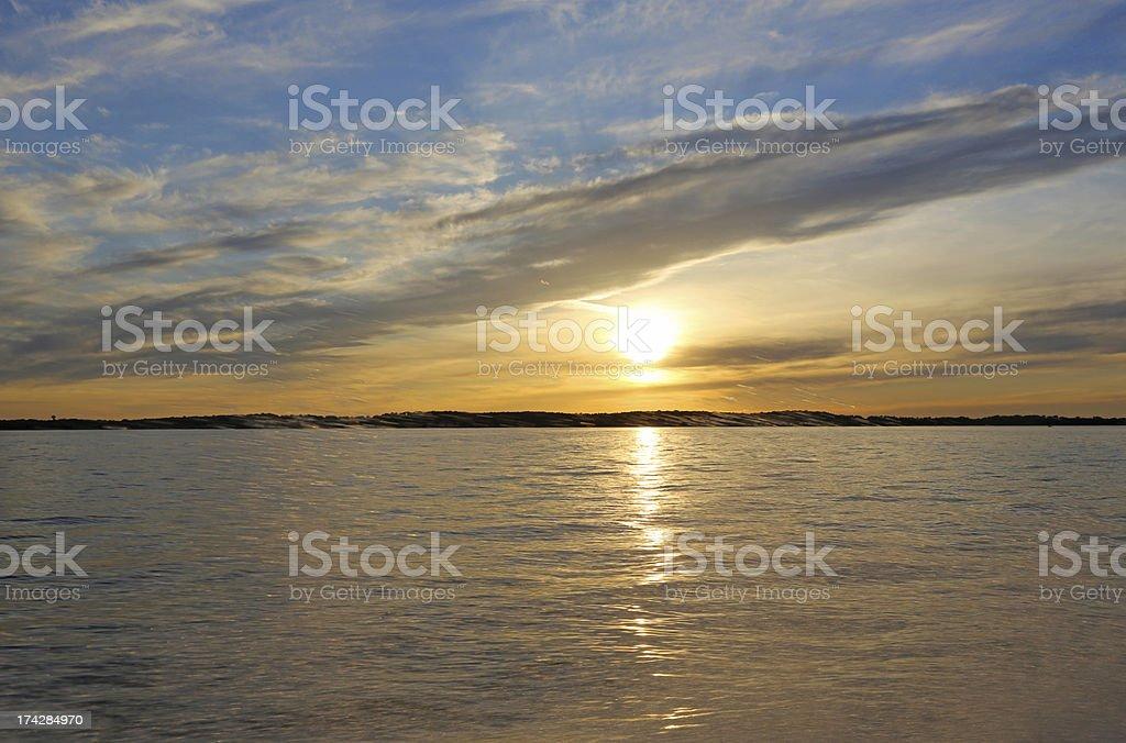 Clean Lake at sunset royalty-free stock photo