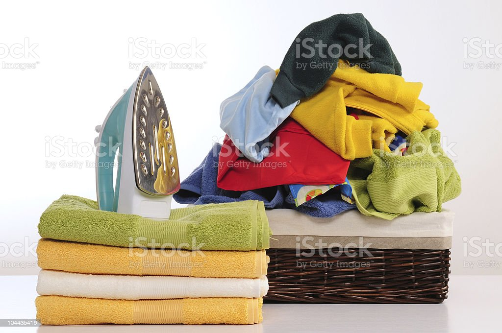 Clean laundry. stock photo