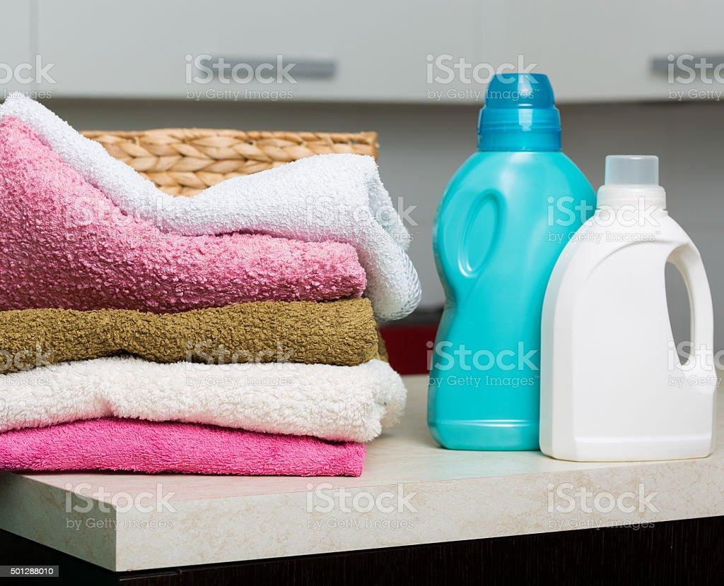 Clean laundry stock photo