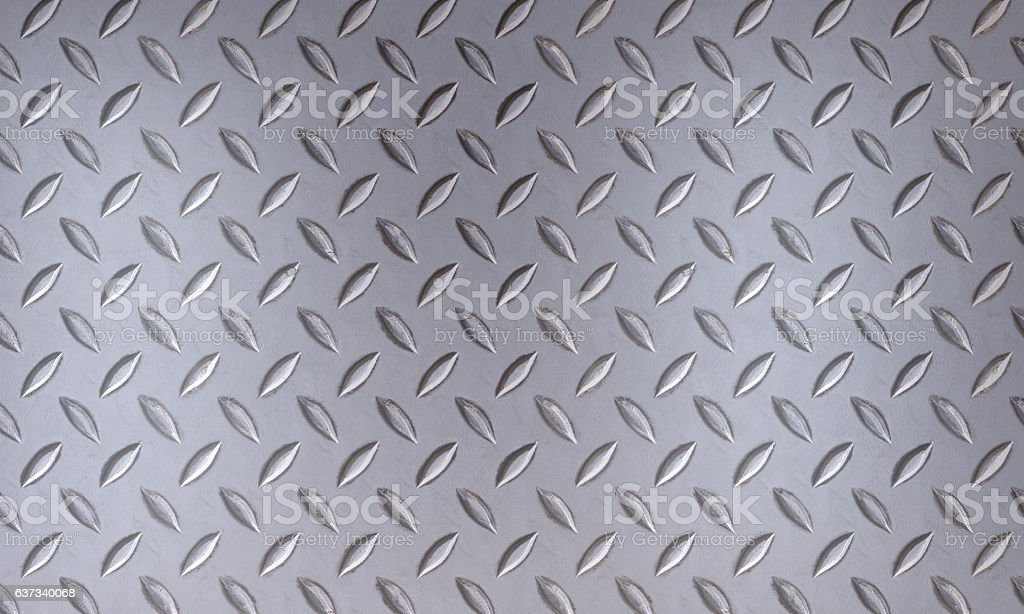 Clean Metal Diamond Plate stock photo