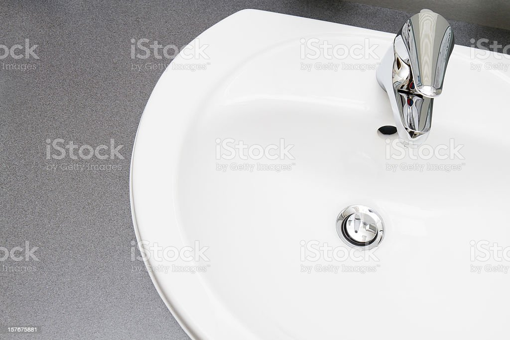 Clean modern Bathroom Sink royalty-free stock photo