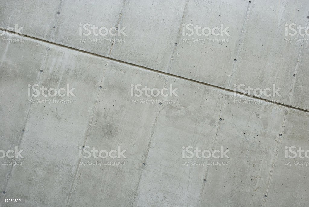 Clean Modern Gray Concrete Wall Background with Details royalty-free stock photo