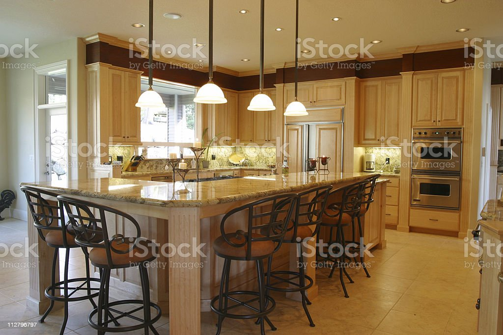 Clean Modern Kitchen royalty-free stock photo
