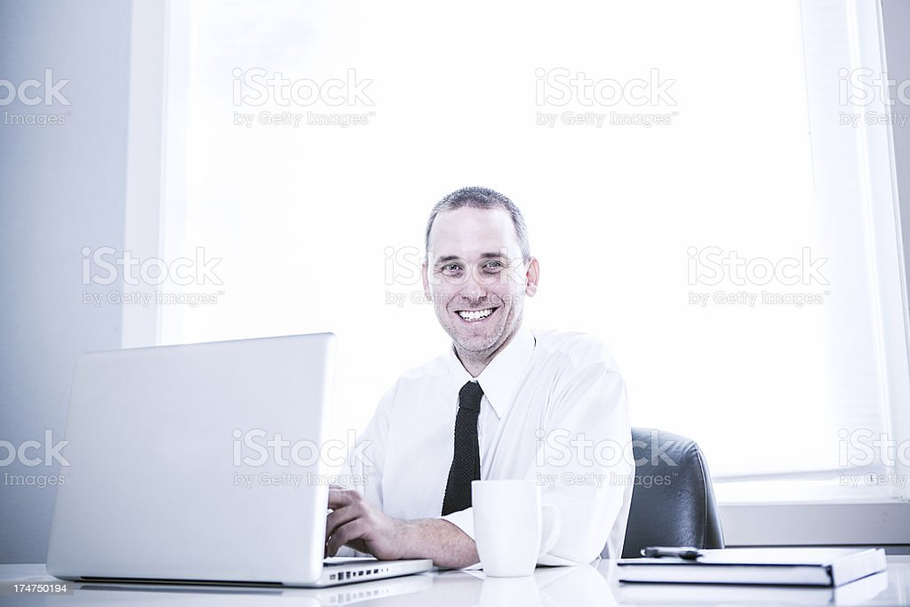 Clean Modern Office and Business Man royalty-free stock photo