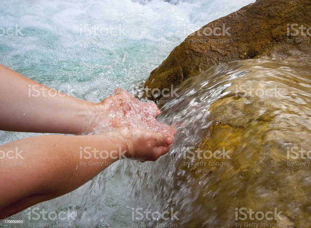 clean natural water royalty-free stock photo