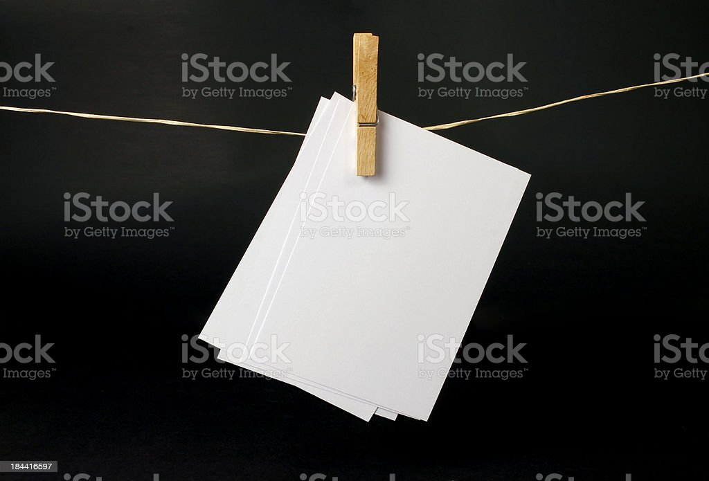 Clean papers stock photo