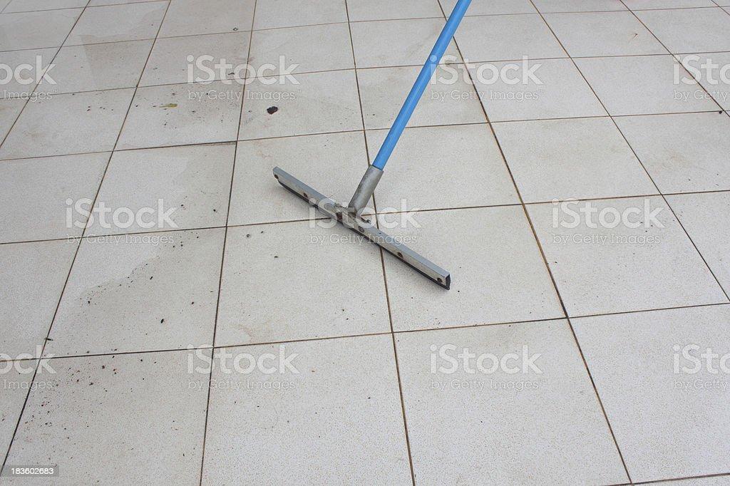 clean rain water on floor stock photo