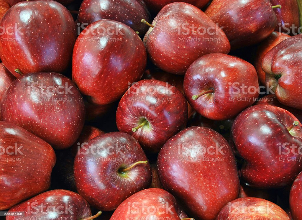 Clean red apples background stock photo