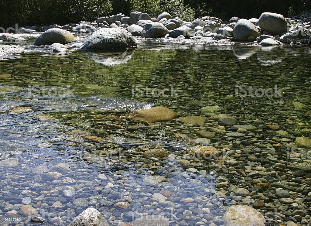 Clean River Water stock photo