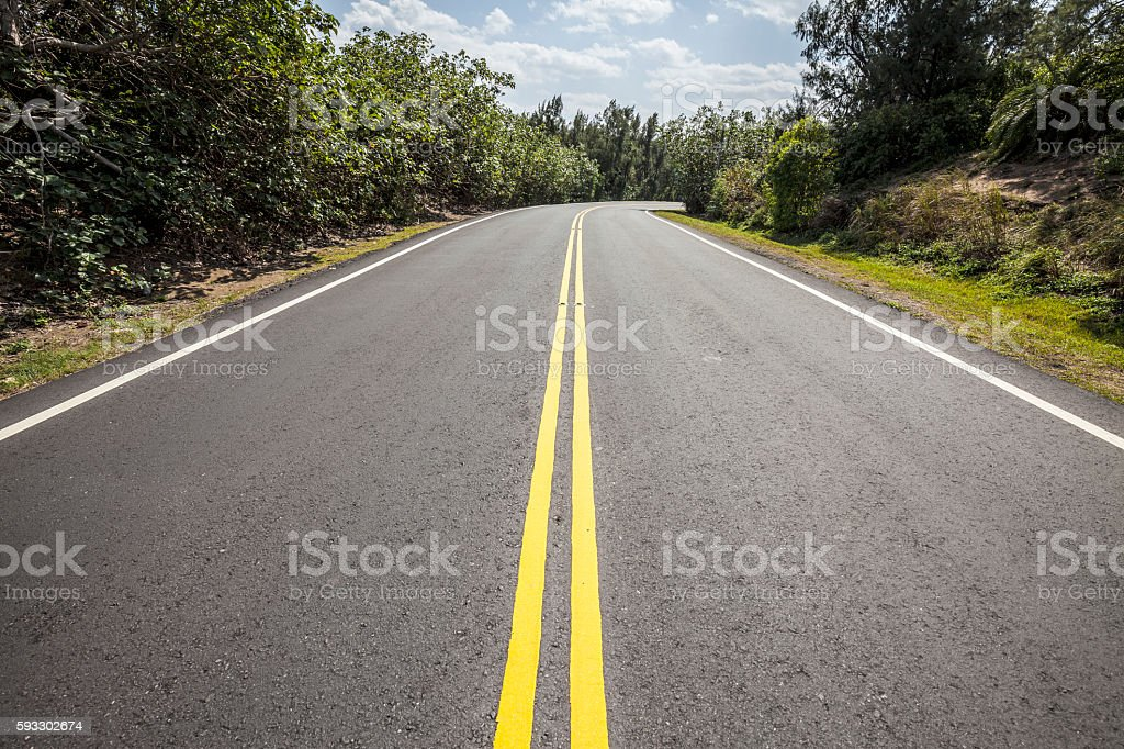 Clean roads stock photo