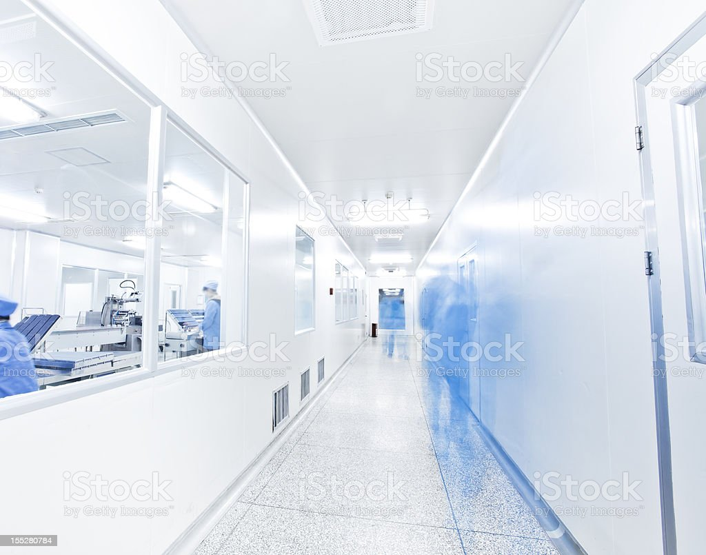 clean room in pharmaceutical factory royalty-free stock photo