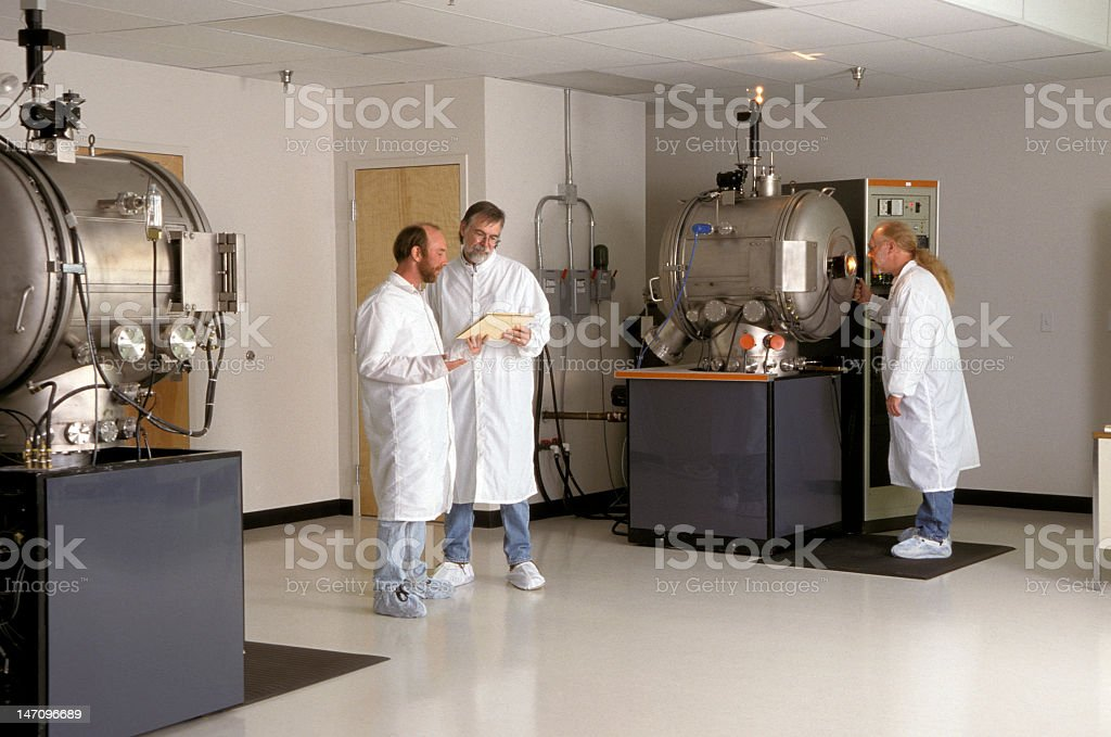 Clean Room with Technicians royalty-free stock photo