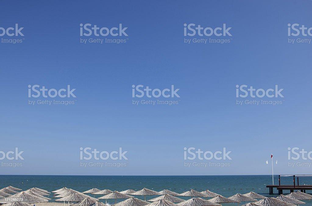 Clean sea stock photo