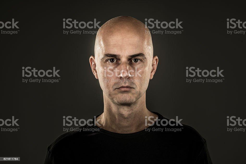 clean shaven man grave stock photo