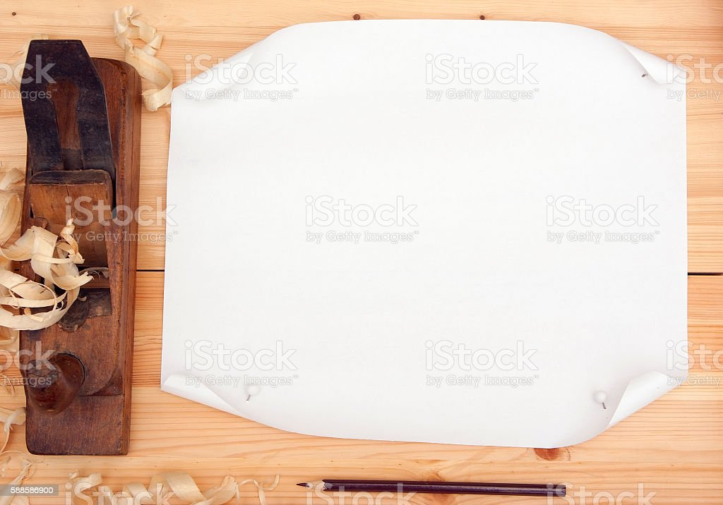 Clean sheet of paper royalty-free stock photo