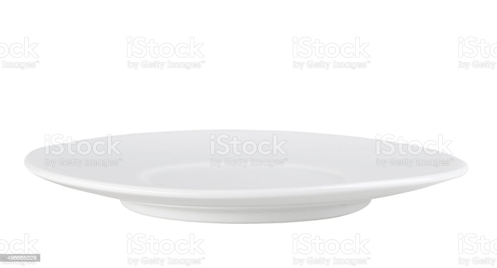 Clean single circle plate stock photo