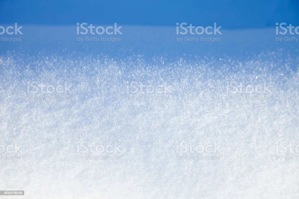 Clean snow. stock photo