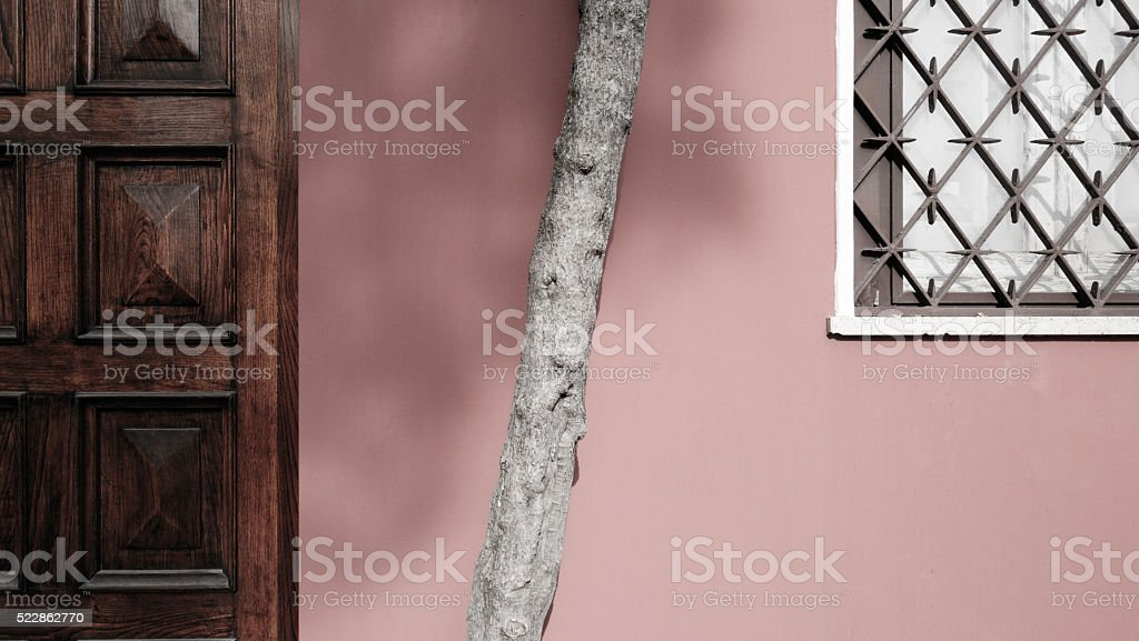 Clean, sparse Architectural abstract with copyspace stock photo