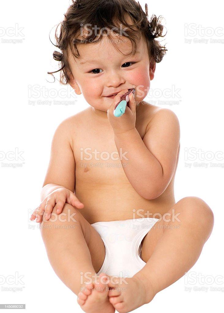 Clean teeth. royalty-free stock photo