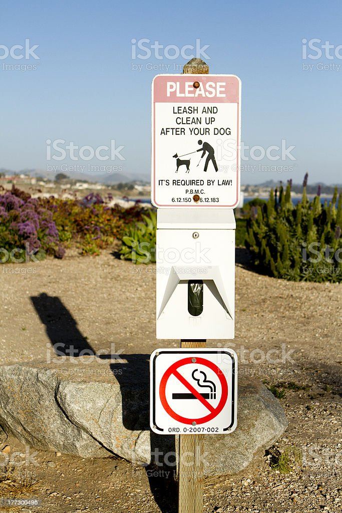Clean up After Your Dog stock photo