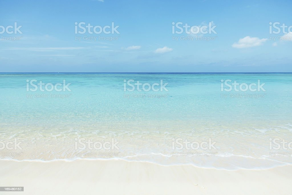 clean white beach royalty-free stock photo