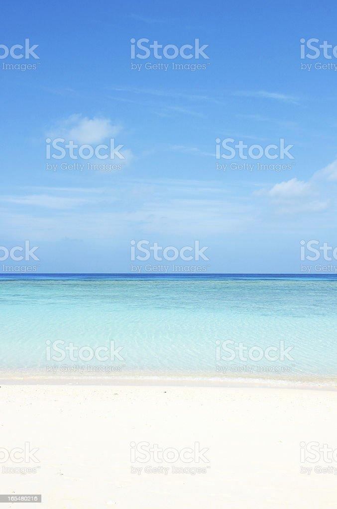 clean white beach stock photo