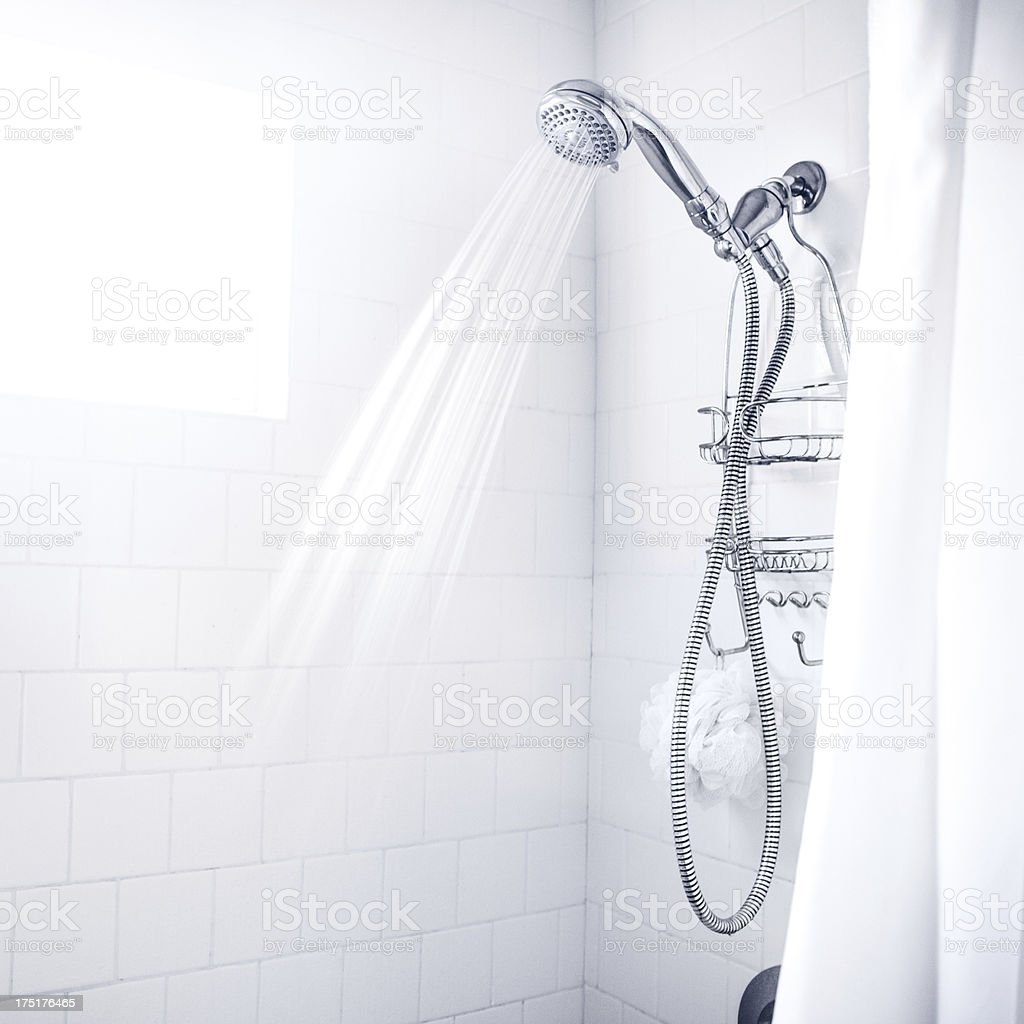 Clean White Shower stock photo