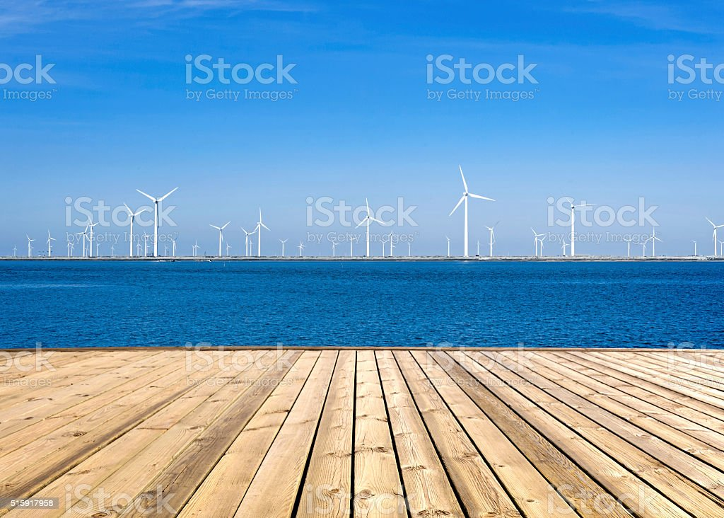 Clean wind energy stock photo