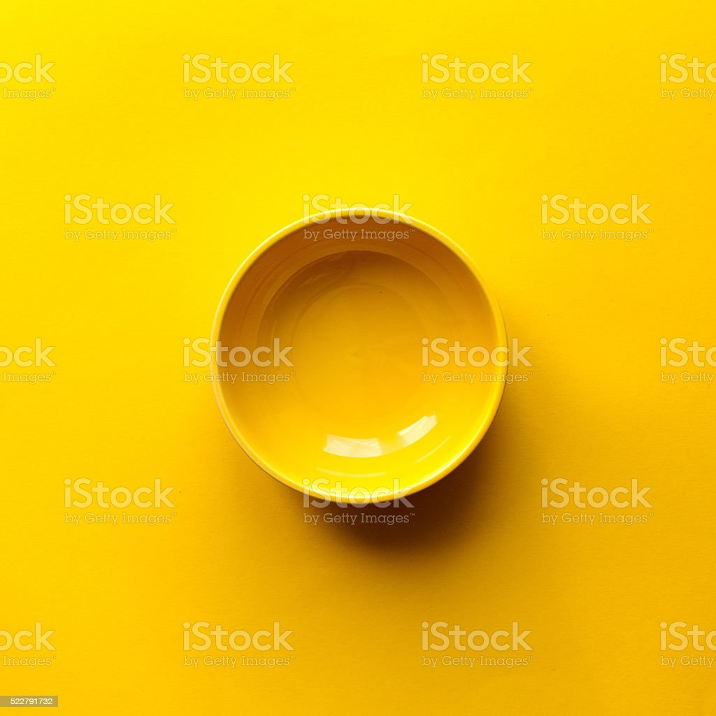 Clean yellow bowl stock photo