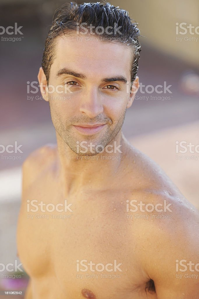 Clean-cut and cavalier royalty-free stock photo