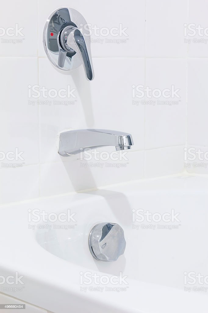 Cleaned Sanitary Ware in the hotel room. stock photo