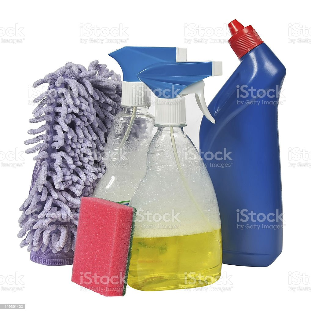 Cleaner isolated on a white background royalty-free stock photo