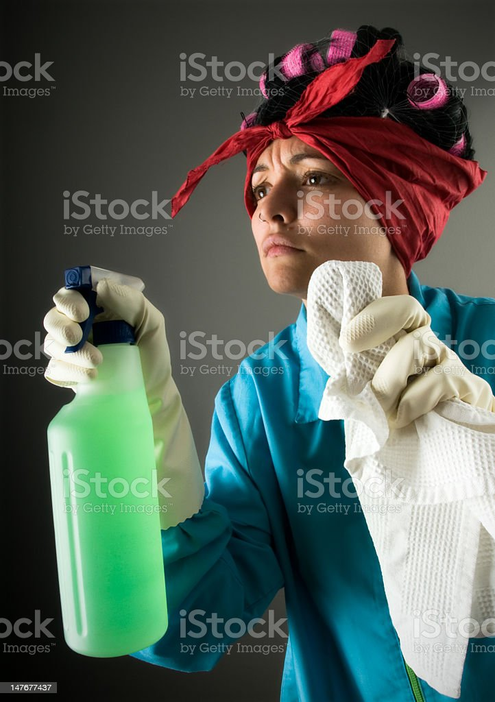Cleaner maid must clean it. royalty-free stock photo
