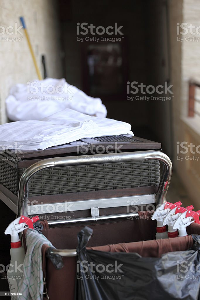 Cleaners Cart stock photo