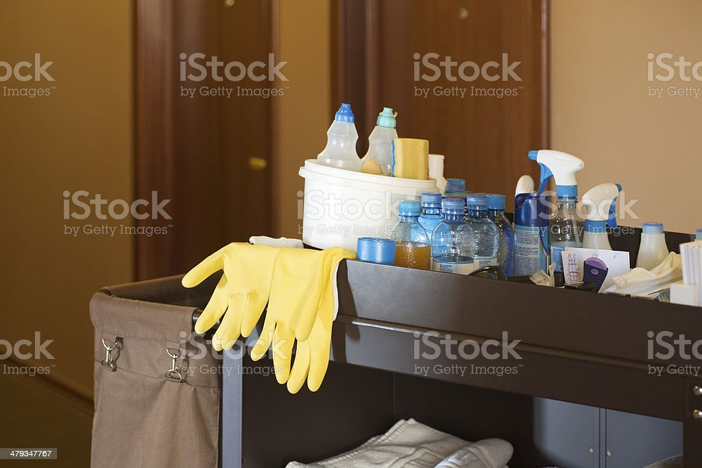 Cleaners Trolley stock photo
