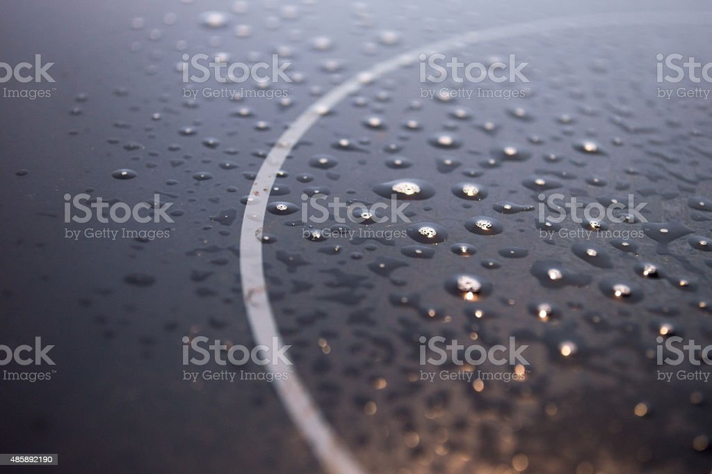 Cleaning a Cooking Hob with Water royalty-free stock photo