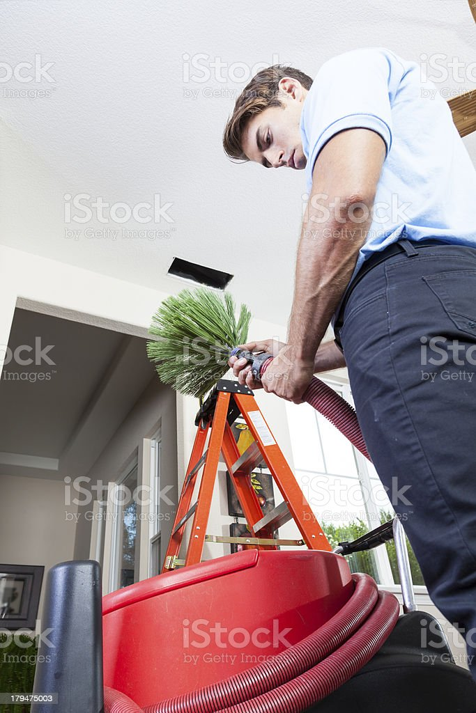 Cleaning Air Ducts royalty-free stock photo