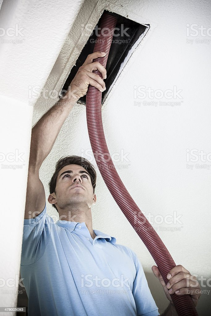 Cleaning Air Ducts stock photo