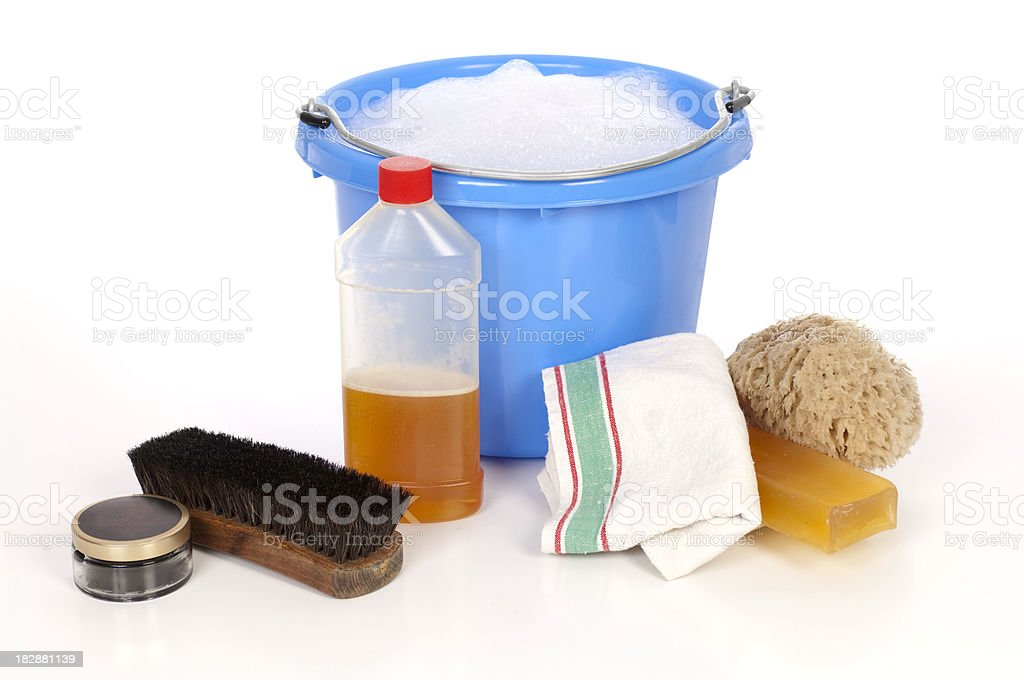 Cleaning And Care Of Equestrian Eqipment stock photo
