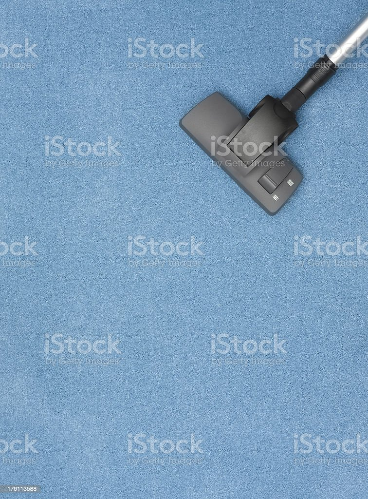 cleaning blue carpet royalty-free stock photo