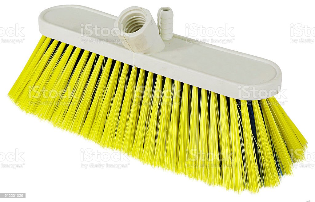 Cleaning: Broom stock photo