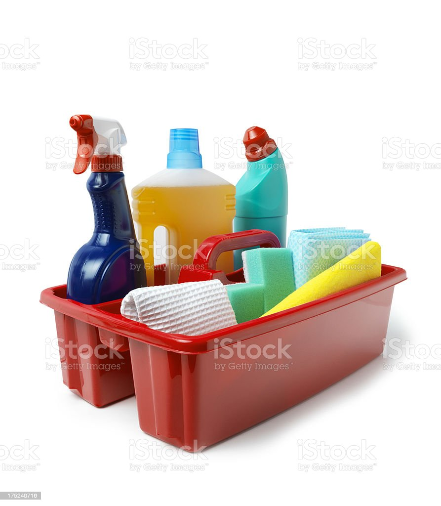 Cleaning Caddy with Clipping Path royalty-free stock photo