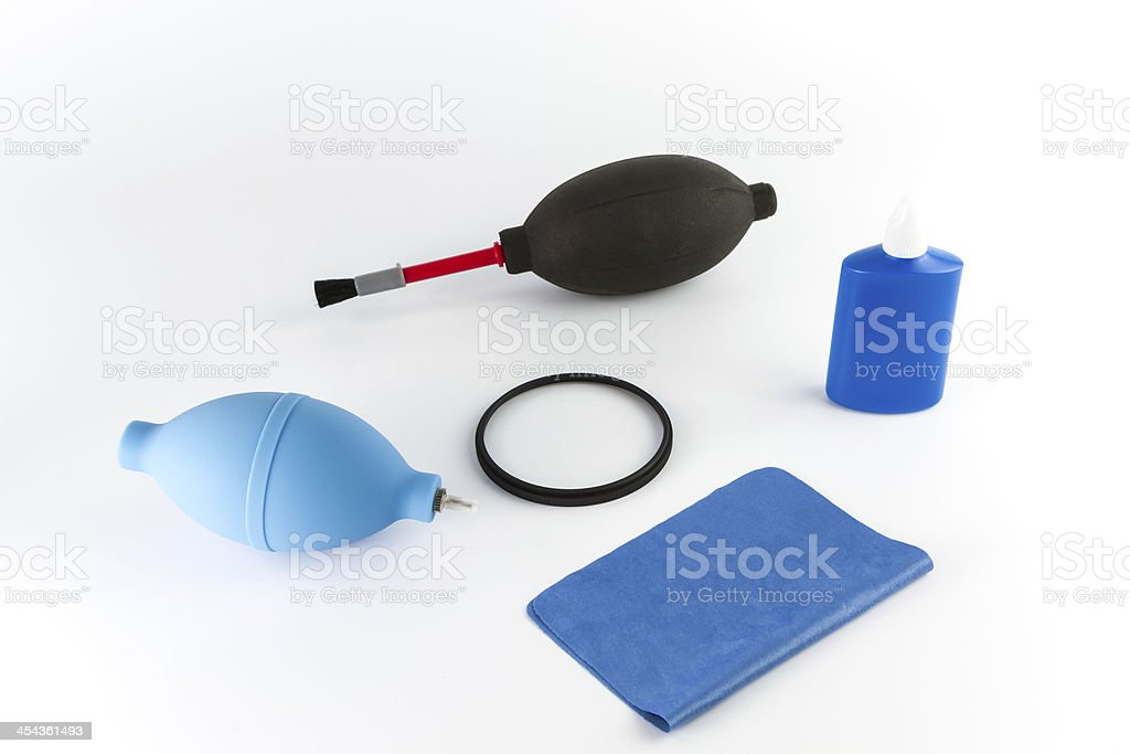 Cleaning canera set royalty-free stock photo