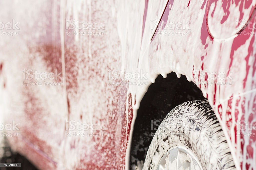 Cleaning car wash royalty-free stock photo