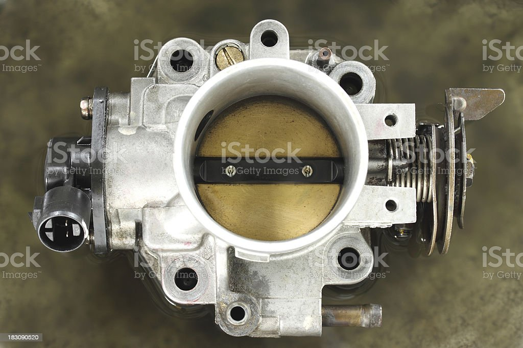 Cleaning carburetor with gasoline royalty-free stock photo