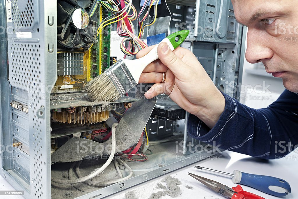 Cleaning  computer royalty-free stock photo
