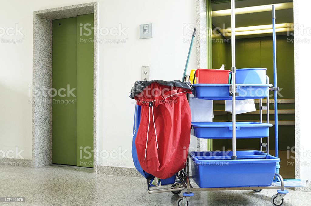 Cleaning Equipment in Hospital stock photo