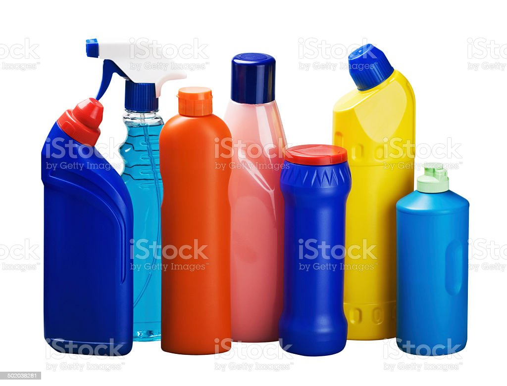 cleaning equipment isolated stock photo