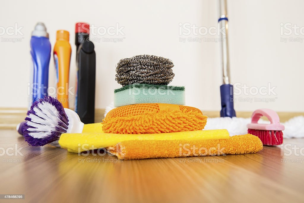 cleaning equipment stock photo